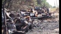 Разбитая колонна укропов под Новозарьевкой (Видео 18+)